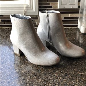 NWOT a new day Light Silver Booties